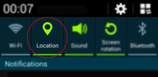 Turn on location service andriod