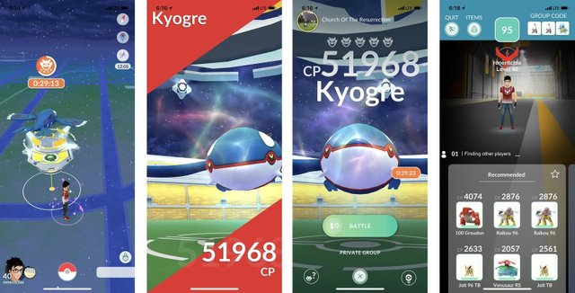 catching kyogre pokemon go