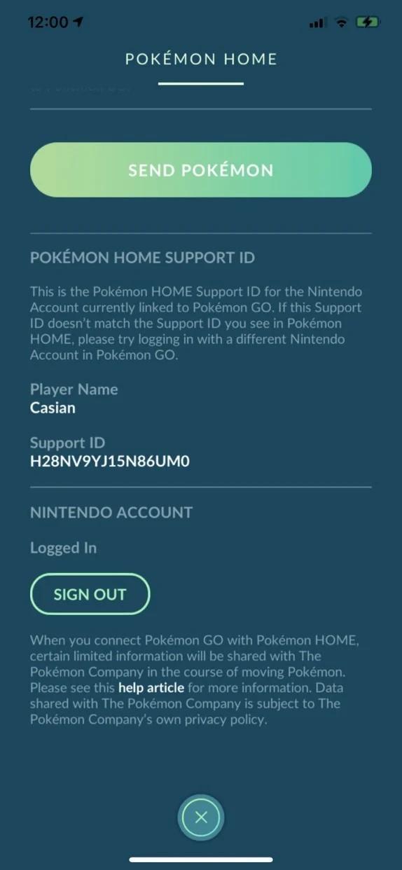click on send pokemon