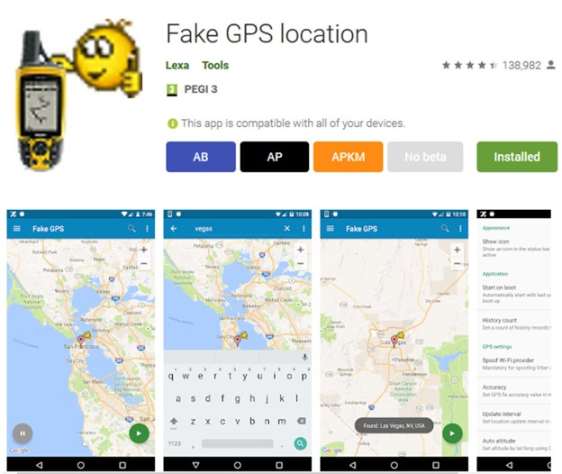 download fake GPS android