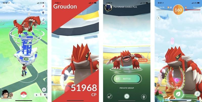 groudon raid pokemon go