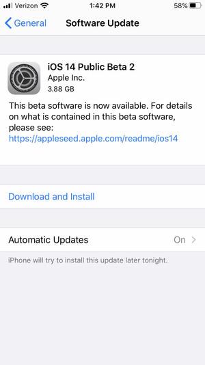 install ios 14 beta 11