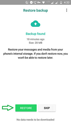 restore android 2