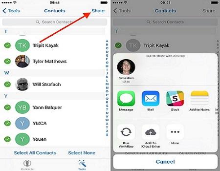 spostare i contatti da iPhone ad Android-scegli il dispositivo di destinazione connesso