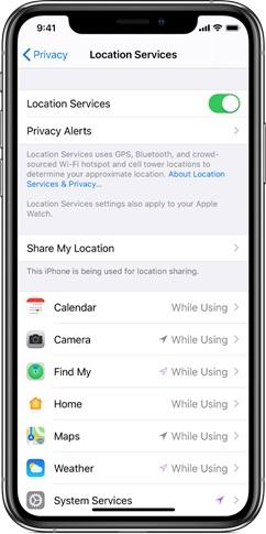 turn off location iPhone