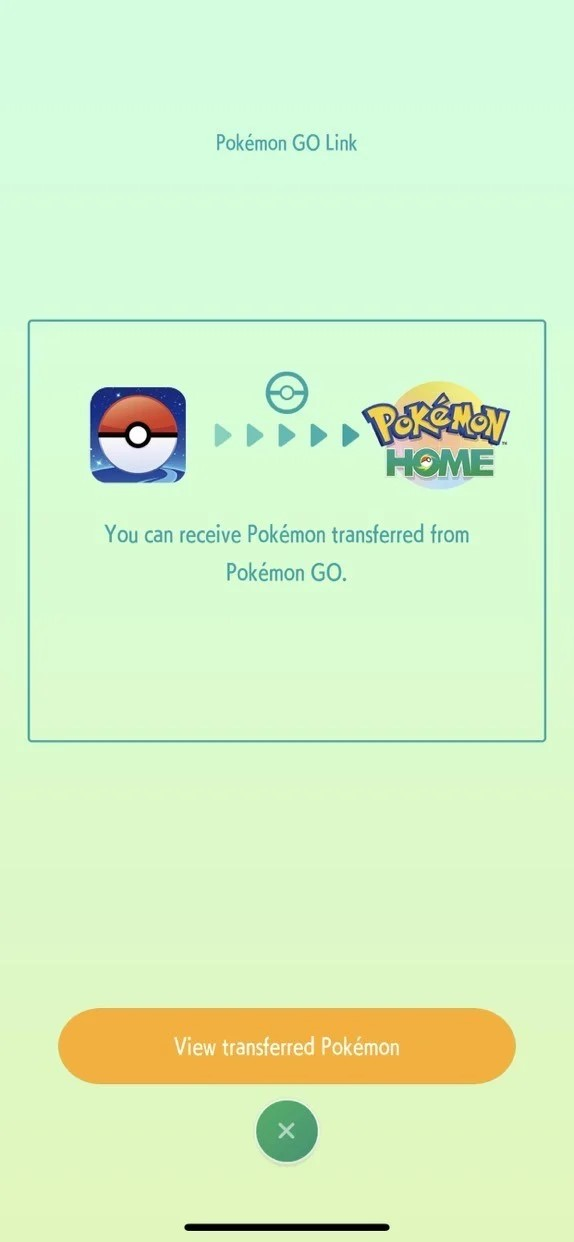 view your transferred pokemon
