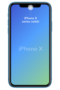iPhone X series notch
