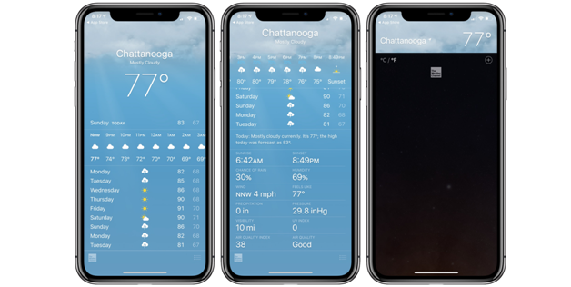 Weather app ios 1
