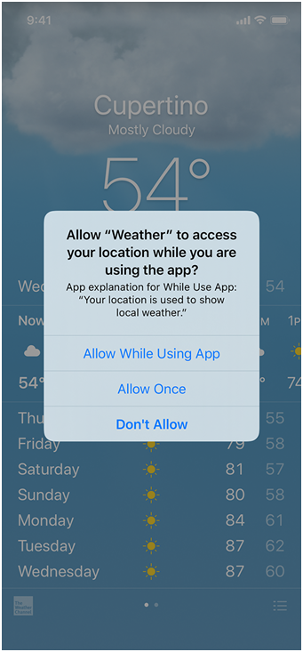 Weather app ios 4