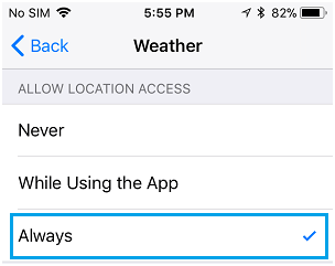Weather app ios 7