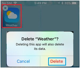 Weather app ios 9