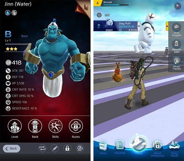 How to level up when playing Ghostbusters world mobile game
