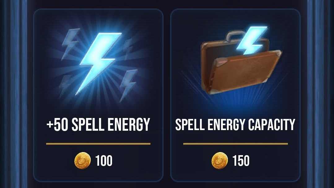 Spell energy amount and capacity