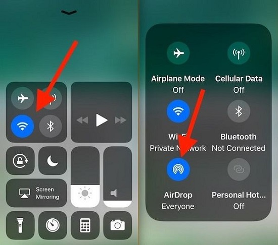 iphone airdrop enable