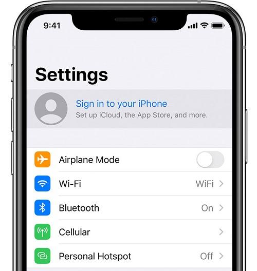 log in icloud iphone