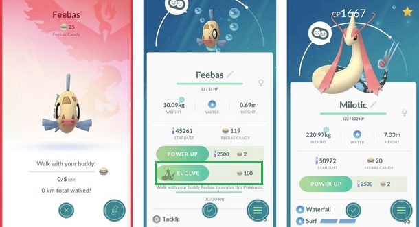 pokemon go feebas evolution