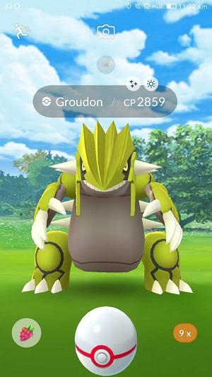 shiny groudon pokemon go