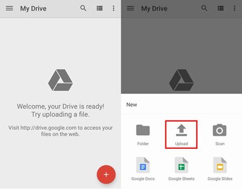 upload google drive