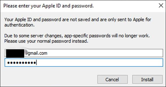 enter apple id