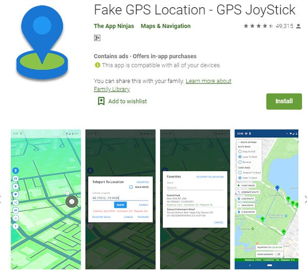 fake gps joystick app