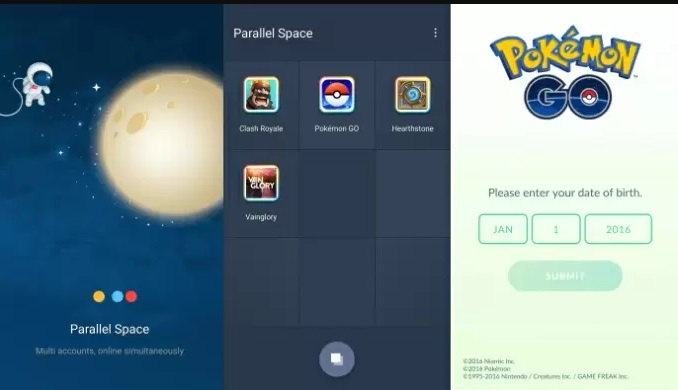 pokemon go parallel space