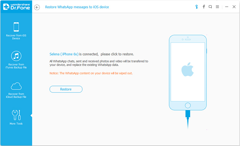 استرداد رسائل واتس آب لهواتف آي فون