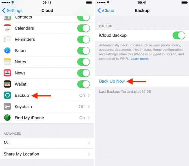 how to backup your iphone on icloud how to restore from icloud backup without reset dr fone 5093