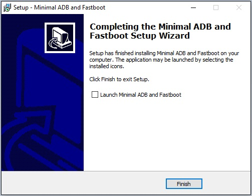 Minimal adb and fastboot installation complete