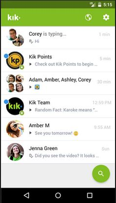 start to deactivate Kik