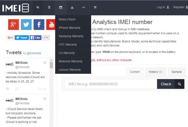 IMEI-Prüfung online