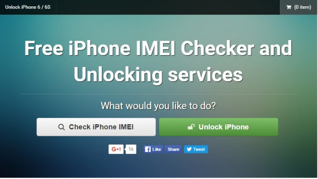 free online iPhone IMEI Checkers