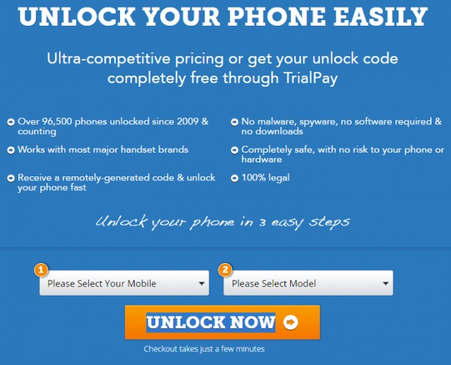 get free SIM network unlock codes
