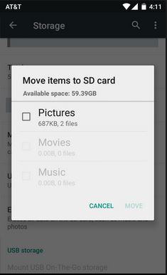 transfer Viber photos to SD finished