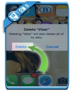 Viber account te verwijderen voltooid