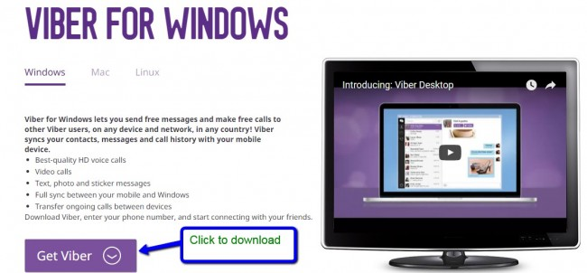 how to free download and install Viber for PC