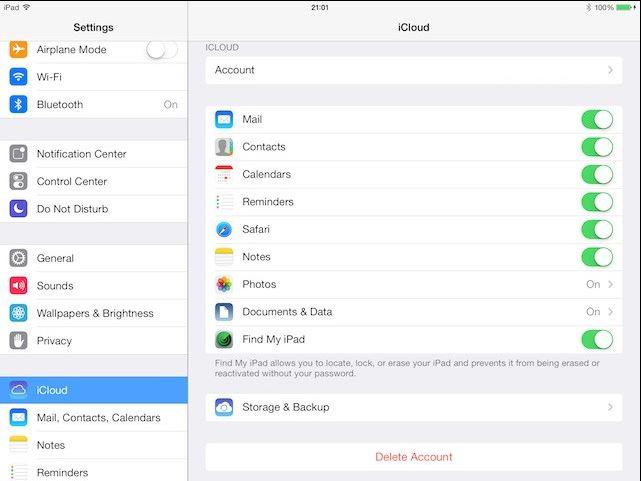Wie Sie ein iPad in iCloud sichern