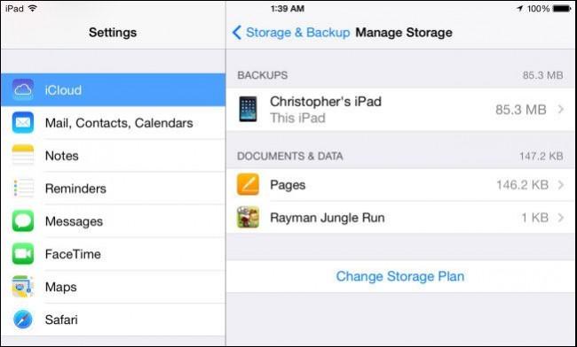 iPad-Backup in iCloud abgeschlossen