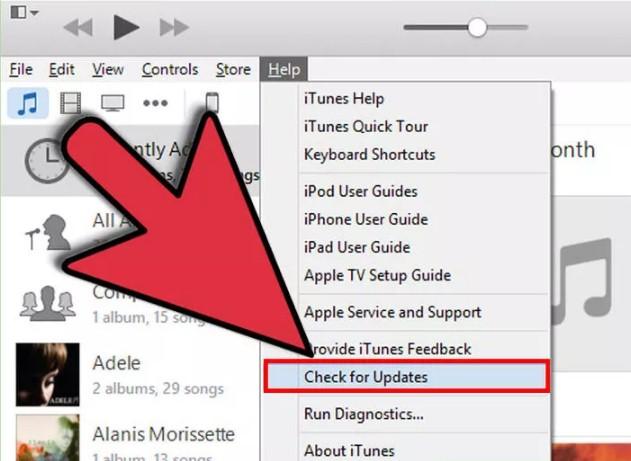 Update iTunes om een backup te kunnen maken.