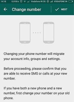 transférer un compte whatsapp