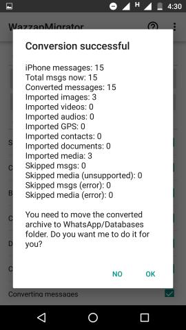 Wie man den Whatsapp-Verlauf vom iPhone auf Android überträgt.