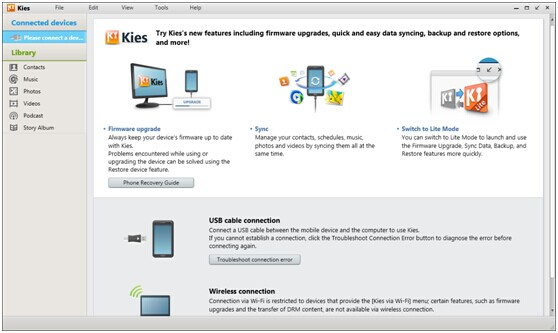 kies backup samsung contacts