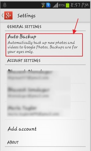 turn off samsung auto backup