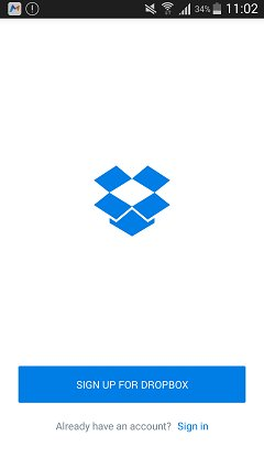 backup samsung photo with dropbox