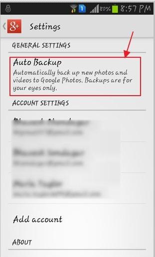 respaldar fotos de samsung con google+
