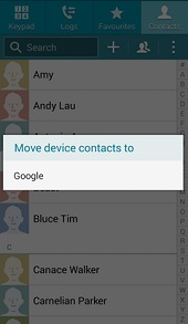 backup samsung contacts