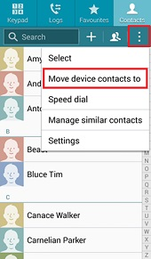 samsung contacts backup