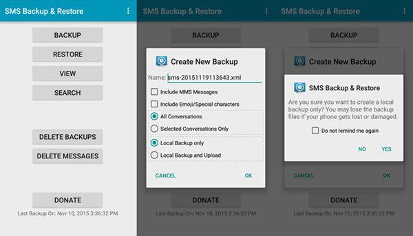 samsung sms backup restore