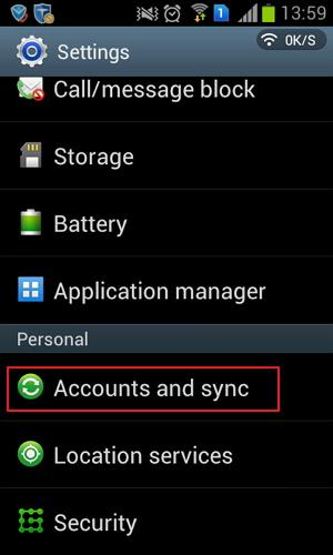 set up samsung account backup