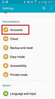 Samsung automatisches Backup
