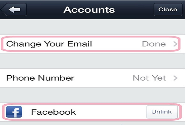 ربط تطبيق لاين بحساب فيسبوك